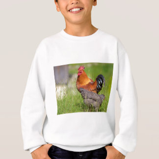 Rooster and hen sweatshirt