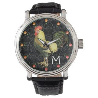 ROOSTER Black White Damask Monogram Watch