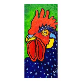 ROOSTER by Piliero 10 Cm X 23 Cm Rack Card