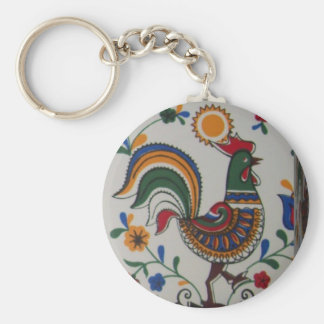 rooster caixa.JPG Basic Round Button Key Ring