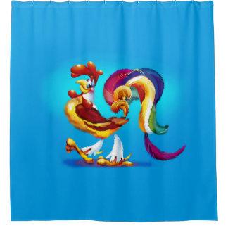 Rooster Cartoon Shower Curtain