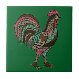 Rooster Ceramic Tile