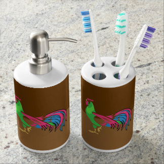 Rooster Charm Bathroom Set