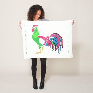 Rooster Charm Fleece Blanket