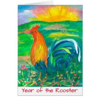 Rooster Chinese New Year Card