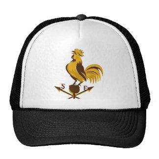 rooster cockerel crowing retro hat
