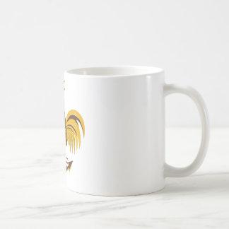 rooster cockerel crowing retro mugs