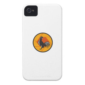 Rooster Crowing Shutter Circle Retro Case-Mate iPhone 4 Case