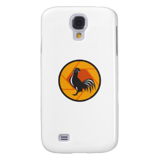 Rooster Crowing Shutter Circle Retro Samsung Galaxy S4 Case