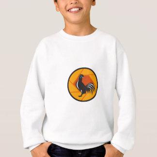 Rooster Crowing Shutter Circle Retro Sweatshirt