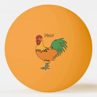 Rooster custom nonogram ping pong balls