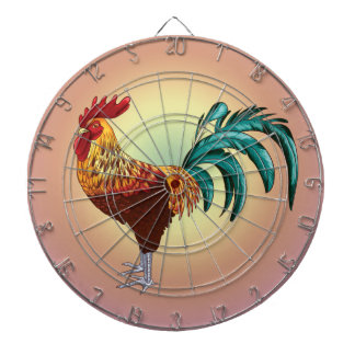 ROOSTER DARTBOARD WITH DARTS