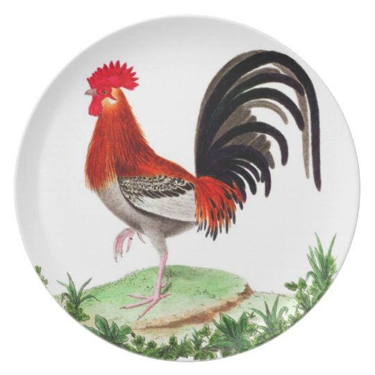Rooster Dinnerware - French Country Home Decor