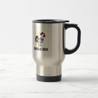 rooster doodle doo travel mug