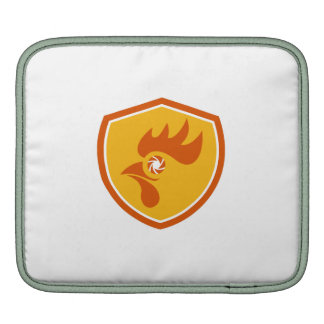 Rooster Eye Shutter Crest Retro iPad Sleeves