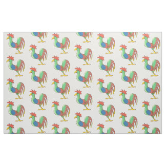 Rooster Fabric