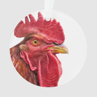 Rooster Face Ornament