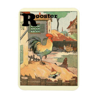 Rooster Farm Yard Magnet