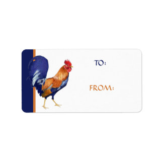 Rooster Gift Tag Address Label