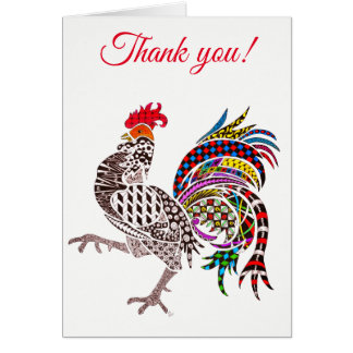 Rooster Greeting Card (You can Customize)