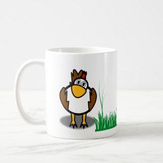 rooster hen mug