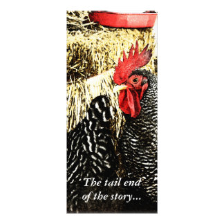 Rooster Hen Tail Funny Rack Card