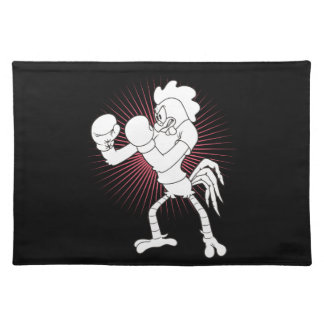 Rooster in gloves placemat