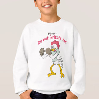Rooster in gloves sweatshirt