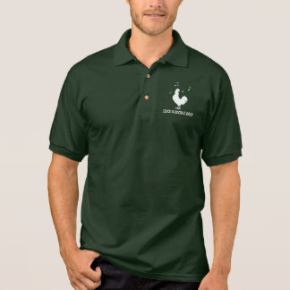 Rooster in Silhouette Cock-A-Doodle-Doo Polo Shirt