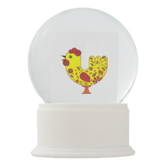 Rooster New Year Symbol Snow Globe