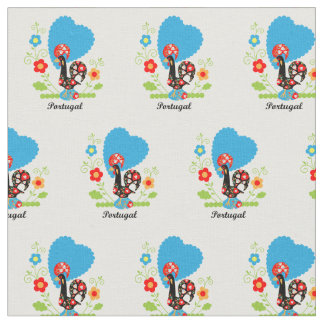 Rooster of Portugal Fabric