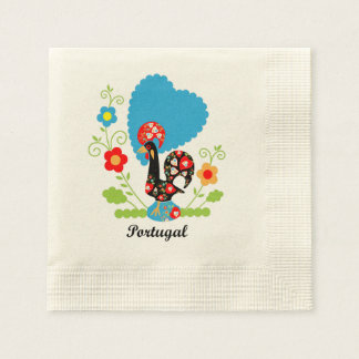 Rooster of Portugal Paper Napkin