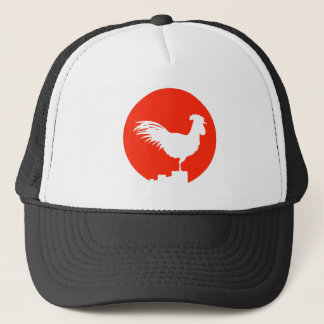 Rooster on a Fence Trucker Hat