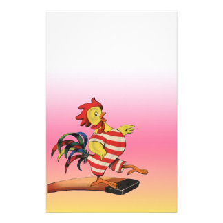 Rooster on the Diving Board Stationery