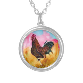 Rooster On the Run Personalized Necklace