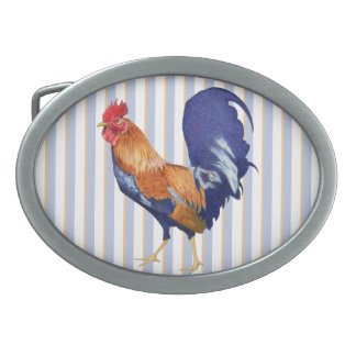 Rooster Oval Belt Buckle