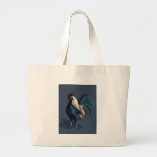 Rooster Pastel Large Tote Bag