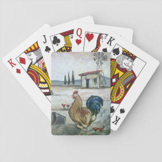 Rooster playing cards