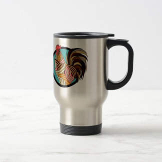 rooster poultry animal farm travel mug