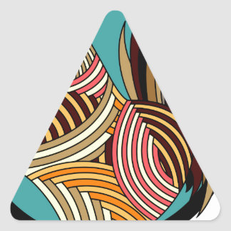 rooster poultry animal farm triangle sticker