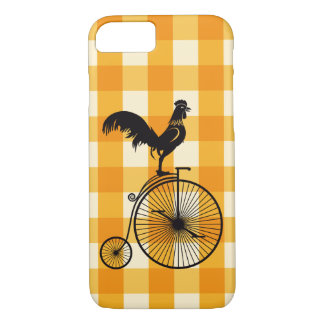 Rooster Riding a Penny Farthing Bike iPhone 8/7 Case