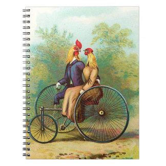 Rooster Romantic Bike Date Notebook