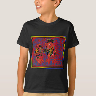 Rooster Scaling a Fish with a Machete T-Shirt