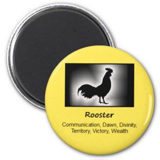 Rooster Totem Animal Spirit Meaning 6 Cm Round Magnet