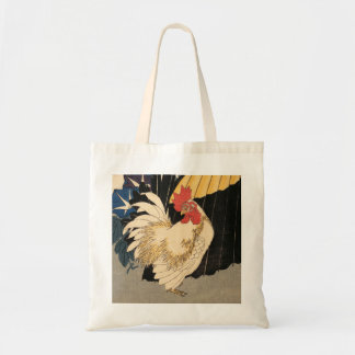 """Rooster, Umbrella, and Morning Glories"" Tote"