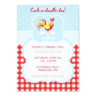 "Rooster Weather Vane Birthday Invitation 5"" X 7"" Invitation Card"