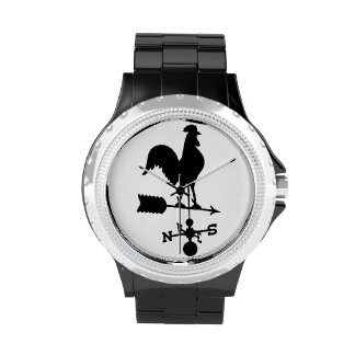 Rooster Weather Vane Watch Wristwatch