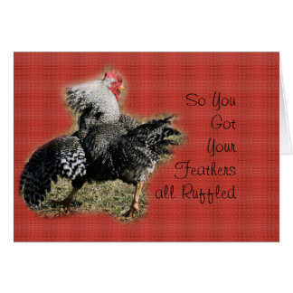 Rooster with bad attitude card- for any occasion card