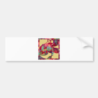 Rooster with Border Bumper Sticker
