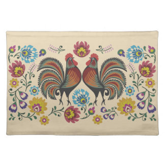 Roosters and Roses Placemat
